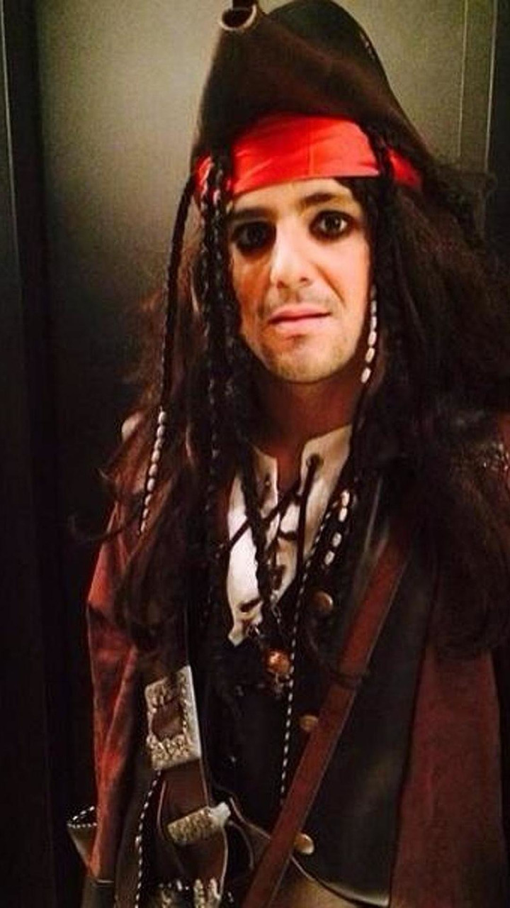 Felipe Massa dressed like a pirate