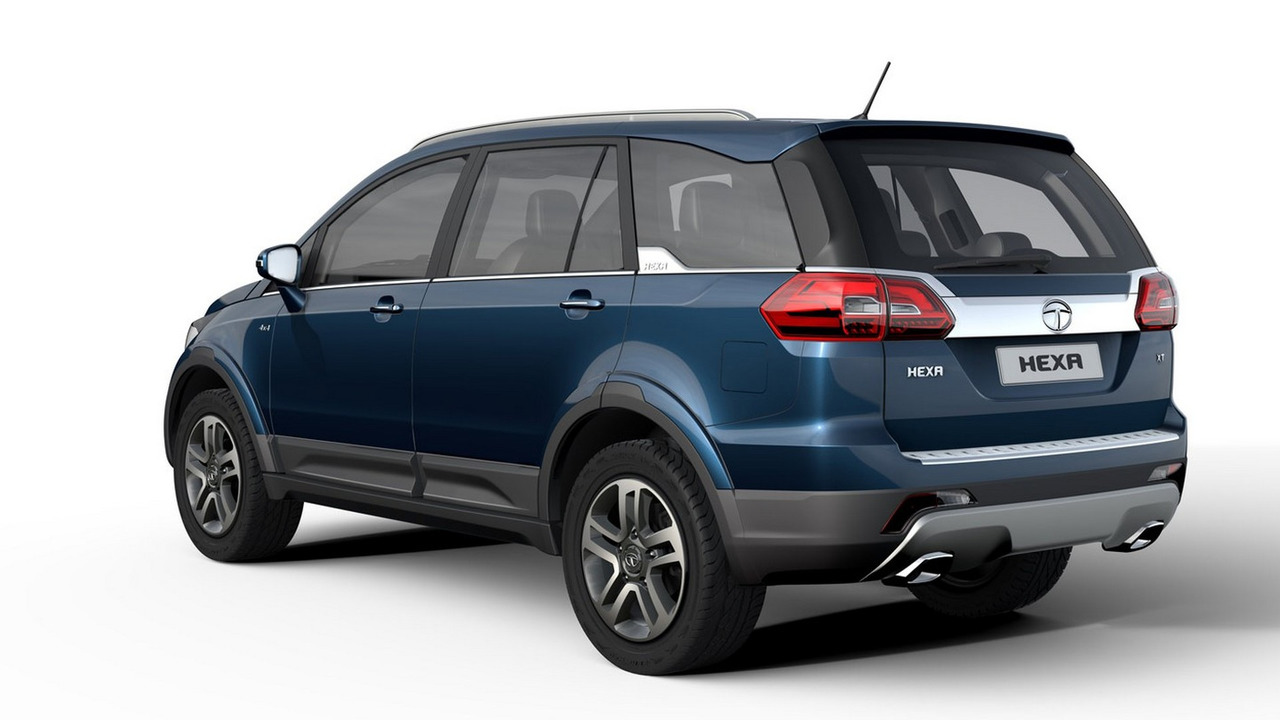 tata hexa arrives in production form at auto expo photos. Black Bedroom Furniture Sets. Home Design Ideas