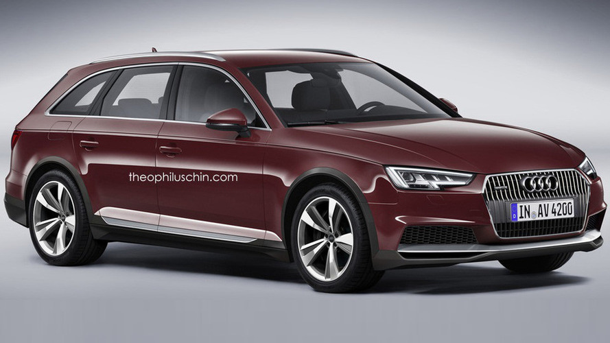 Audi A4 Allroad rendered prior to next year debut