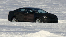 2010 Hyundai Sonata Prototype Spied testing on Frozen Lake