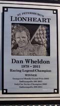 Dan Wheldon Memorial and Victory Circle unveiling ceremony- Dan Wheldon Memorial detail
