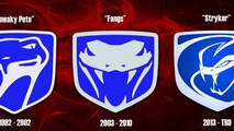 SRT Viper logo progression