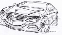 Mercedes-Benz S-Class Coupe sketch