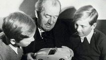 Ferdinand Porsche with grandchildren Ferdinand Piëch (right) and Ferdinand Alexander Porsche