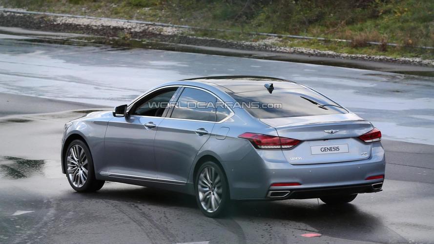 Undisguised 2014 Hyundai Genesis returns in high-res spy photos