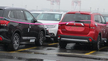 2016 Mitsubishi Outlander facelift spied undisguised in Japan