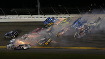 Half the field involved in massive wreck at Daytona