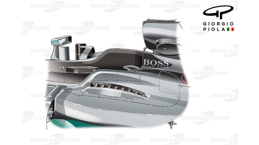 Mercedes W07 top exits, Hungarian GP