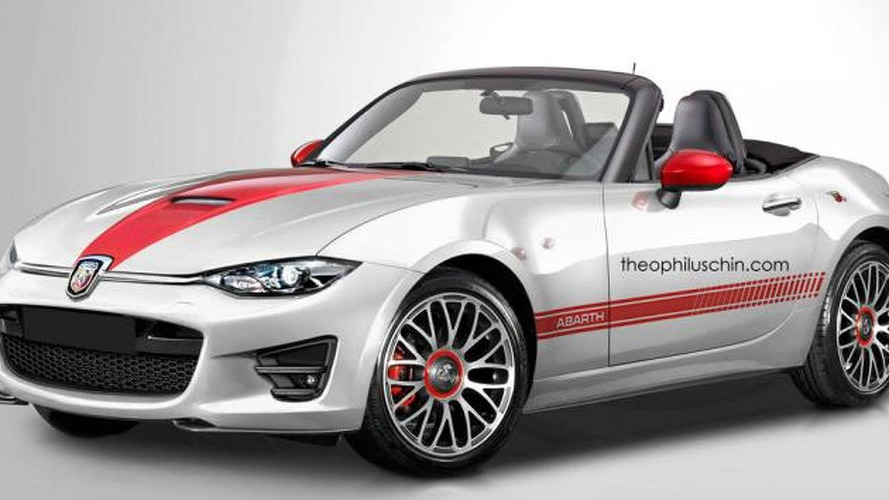 Abarth Roadster rendering previews a Mazda MX-5-based roadster for some markets