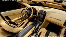 Chevrolet Corvette C6 Convertible interior customized by Carlex Design Europe