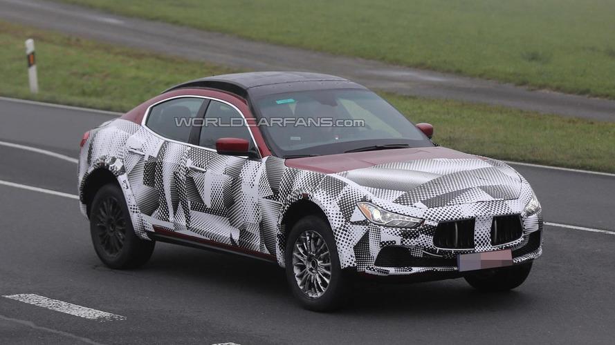 Maserati Levante mule still looks weird in latest spy shots