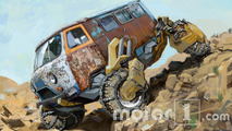 Buhanka UAZ-452 Russian Monster Robot-Car