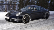 2019 Porsche 911 spied with Mission E taillights
