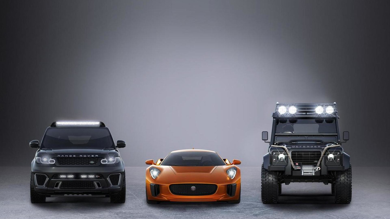 Jaguar C-X75, Range Rover Sport SVR and Land Rover Defender Big Foot for SPECTRE