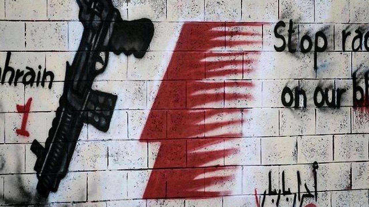 Bahrain Formula 1 protest mural