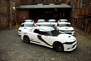 Uber Dressed Up Dodge Chargers like Star Wars Stormtroopers