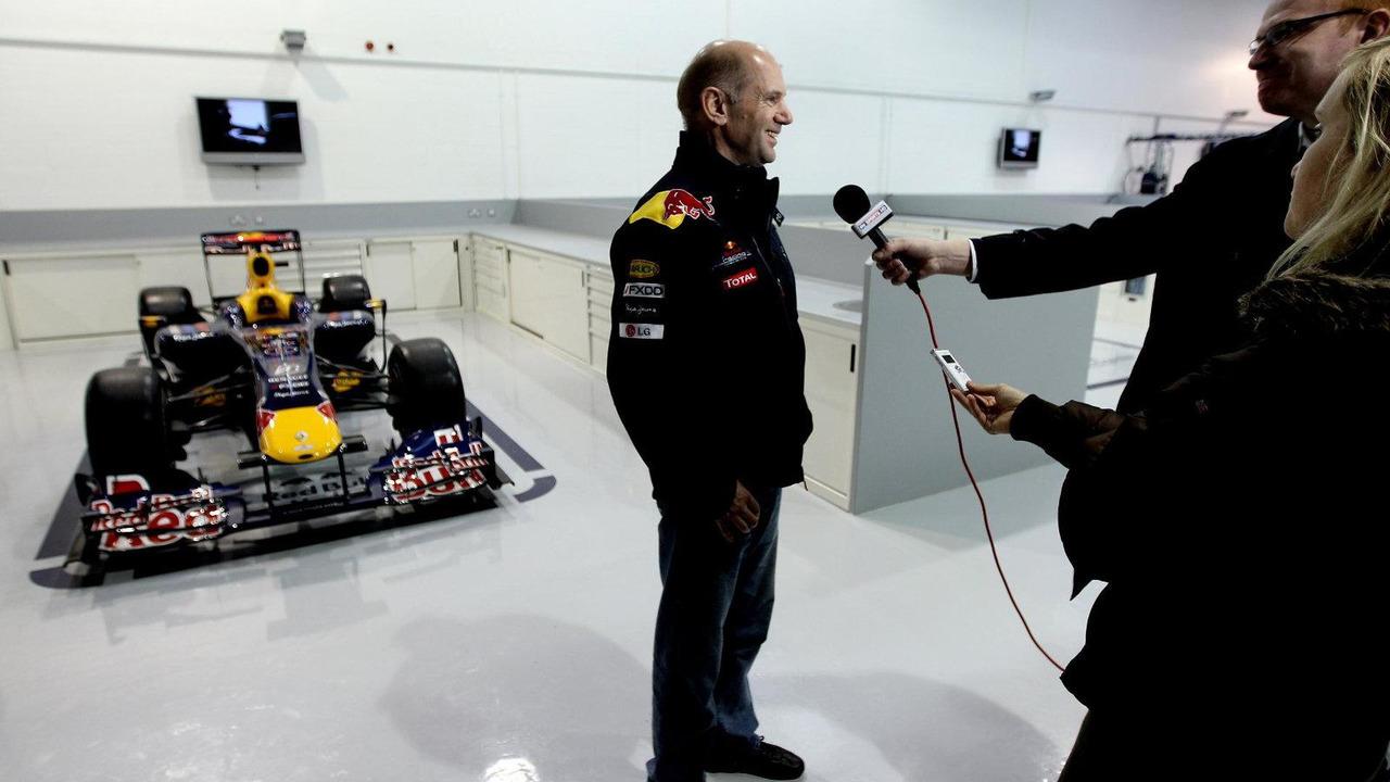Red Bull racing chief technical officer Adrian Newey talking to the media, teams headquarters in Milton Keynes on 16.11.2010, Milton Keynes, England