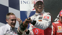 Nick Fry, Lewis Hamilton, winner, 2009 Hungarian GP