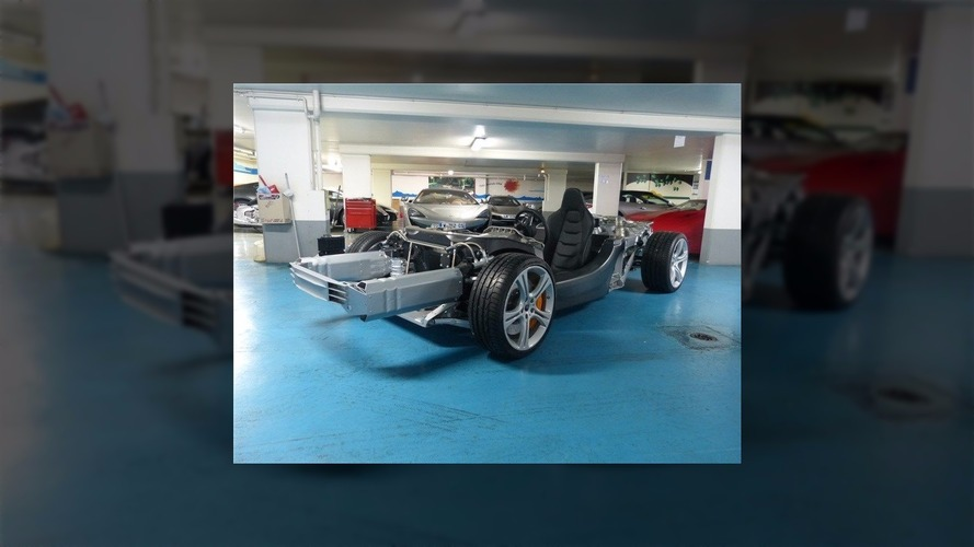 There's a McLaren 12C rolling chassis for sale