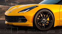 Mid-engine Chevy Corvette C8 render