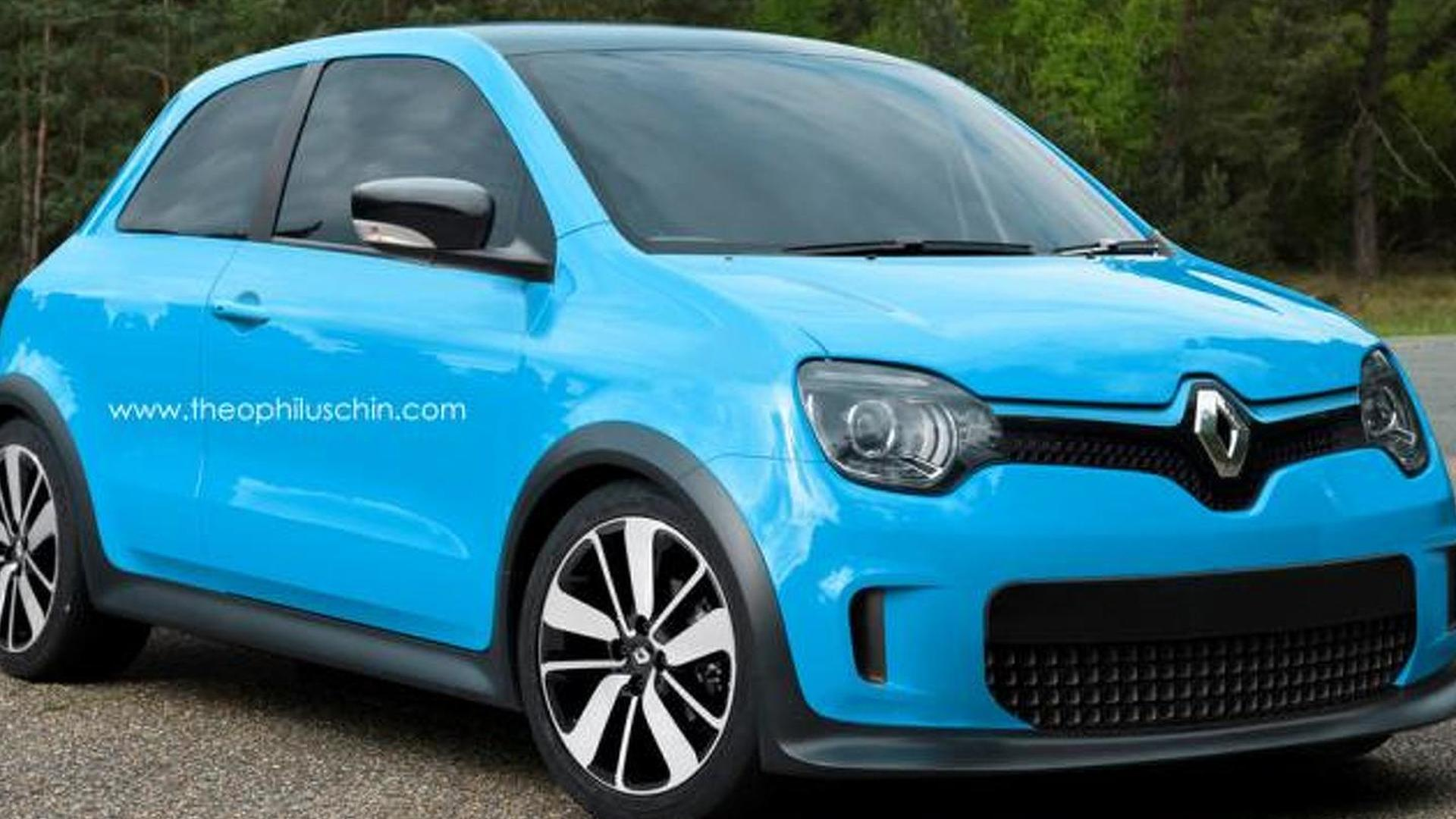 2014 renault twingo rendered. Black Bedroom Furniture Sets. Home Design Ideas
