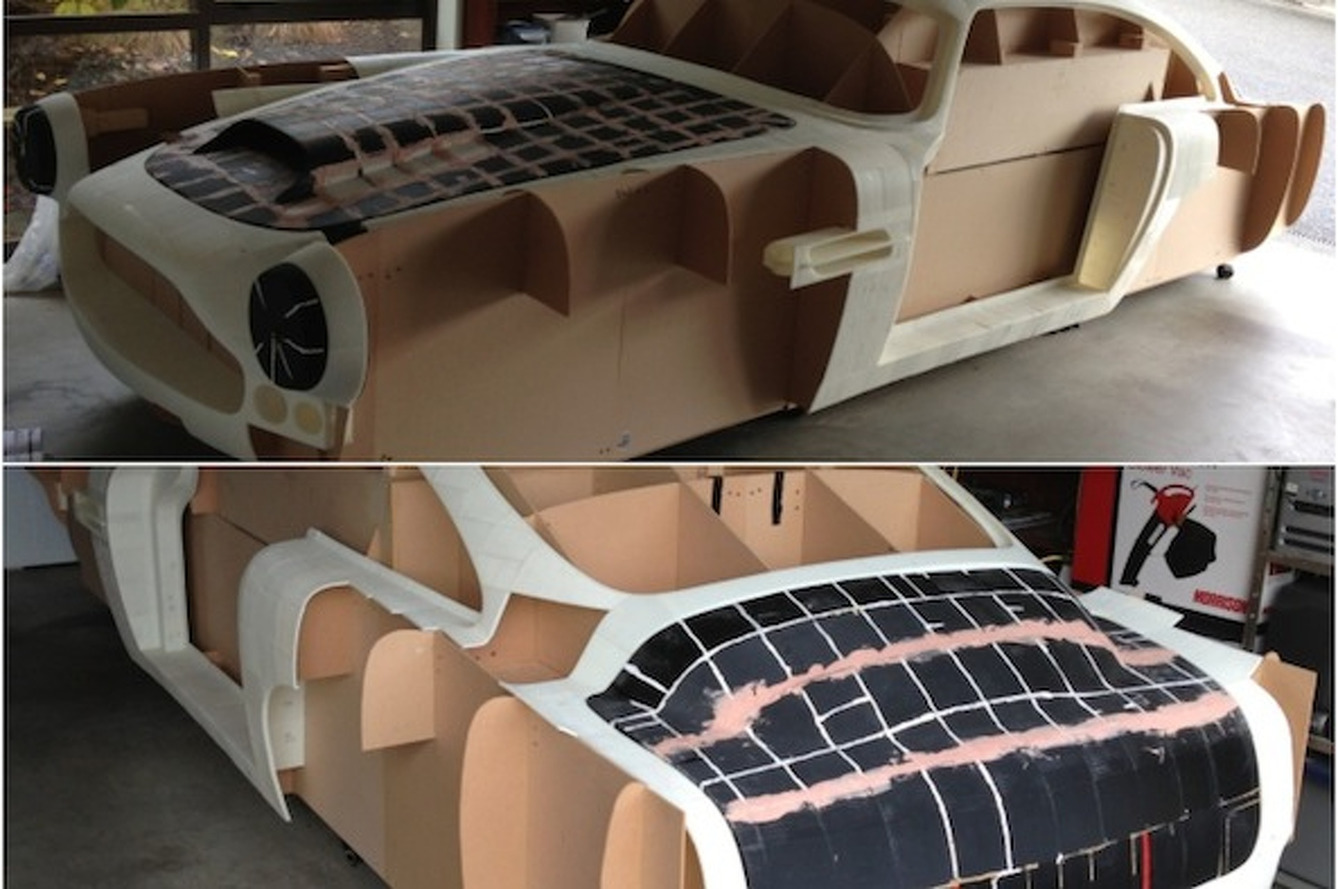 Guy Building Skyline-Based Aston Martin DB4 Replica Using 3D Printer