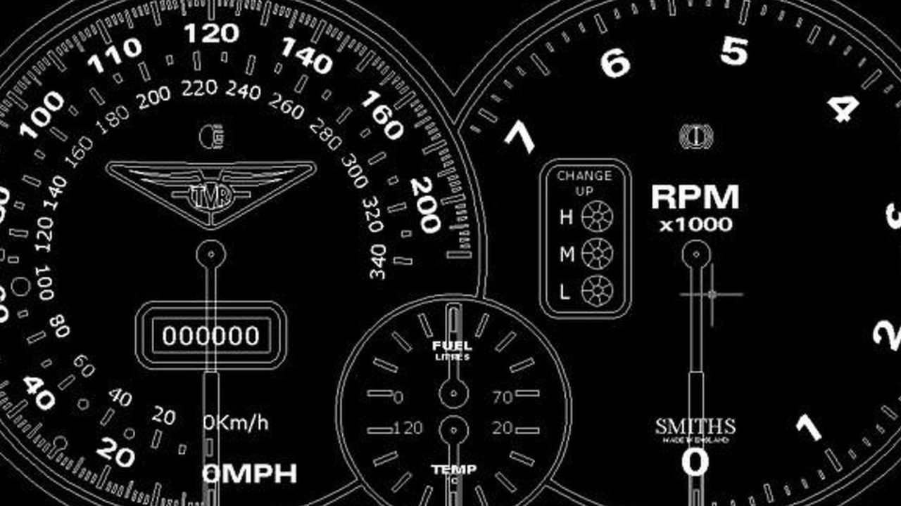 TVR instrument panel rendering - 14.11.2011