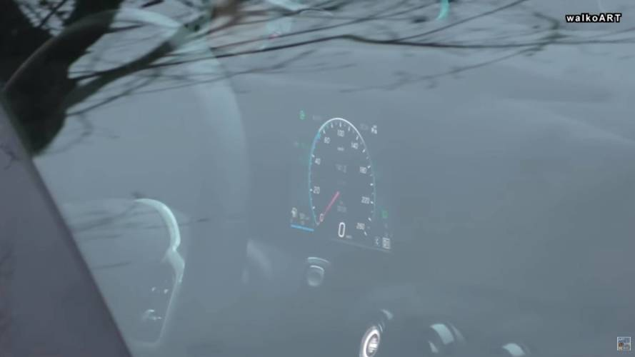 Mercedes A-Class Spied Failing To Hide Digital Instrument Cluster