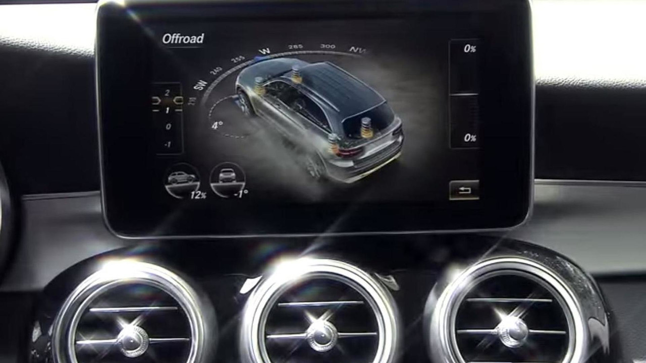 Mercedes-Benz GLC screenshot from teaser video