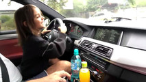 Little Girl Laughs While Driving A BMW M5