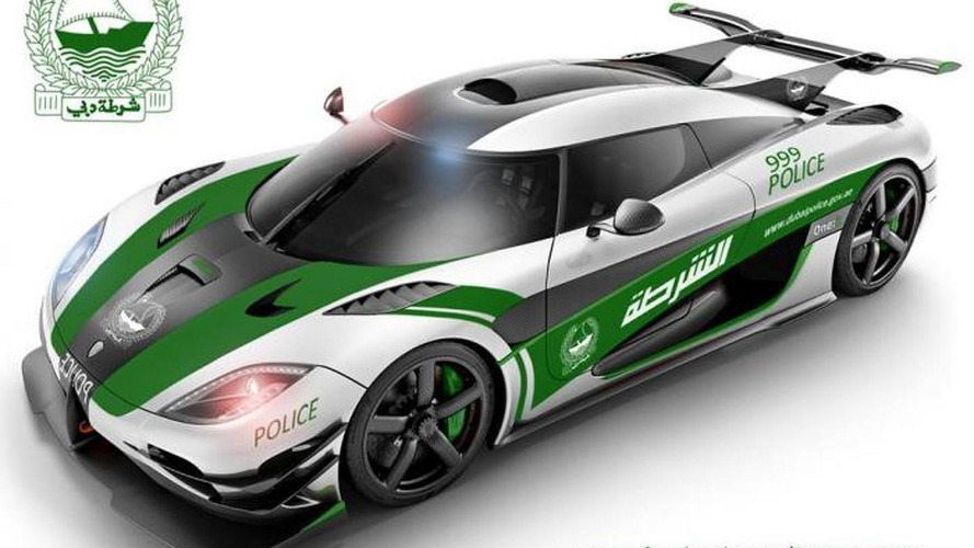 Koenigsegg One:1 rendered as a Dubai Police car