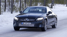 Mercedes C-Class Coupe facelift spy photos