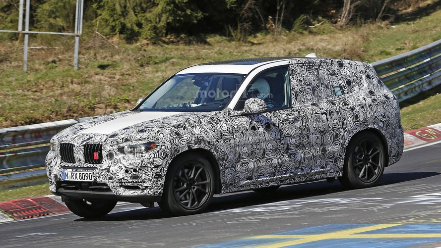 2017 BMW X3 caught on video at the Nürburgring