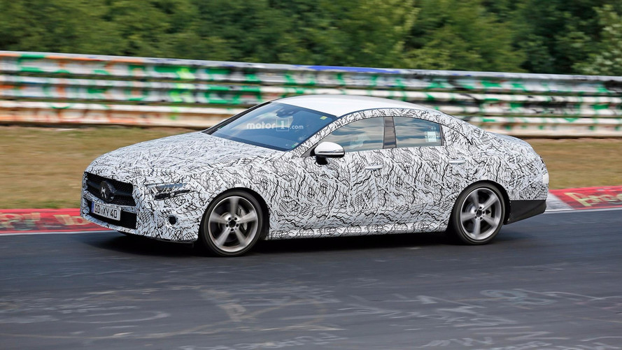 2018 Mercedes CLS Spied Sprinting Around The Nurburgring