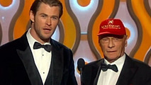 Niki Lauda at The Golden Globes 2014