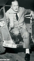 Curd Jurgens with BMW Isetta