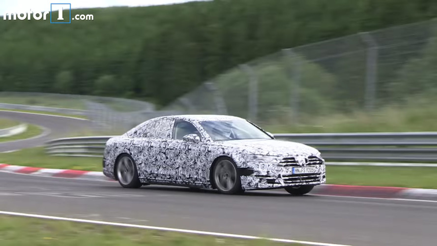 Audi A8 quietly cruises around during testing
