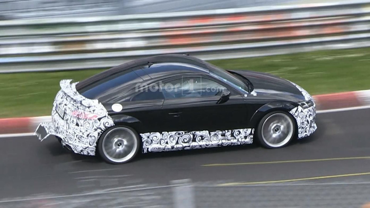 2017 Audi TT RS screenshot from spy video