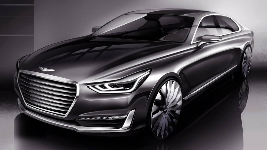 2017 Genesis G90 arrives in Detroit to take on premium segment