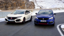 Honda Civic Type R vs. Peugeot 308 GTi