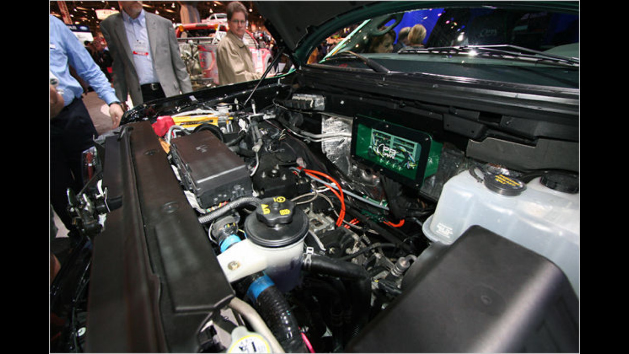 Ford F-150 Electric Green Truck