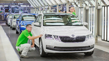 Škoda Octavia restylée production