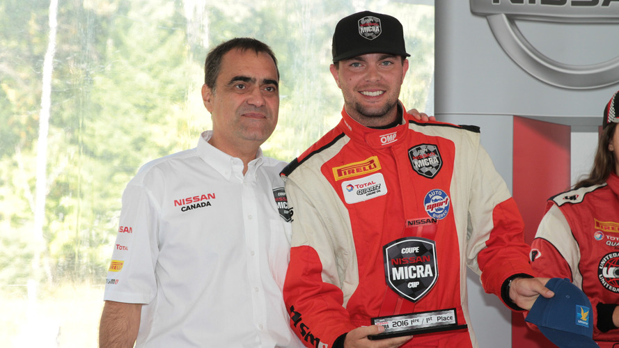 Nissan honours Micra Cup Champion with Gilles Villeneuve Trophy