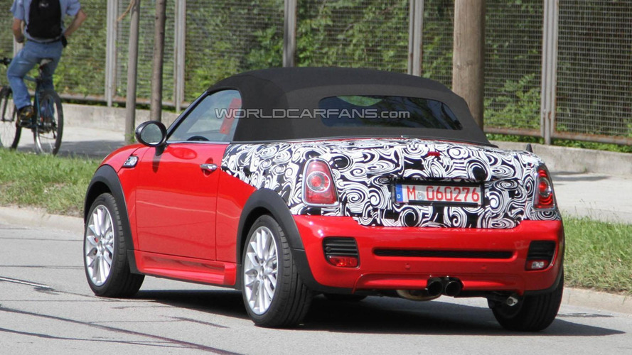 2012 MINI JCW Roadster spied for the first time