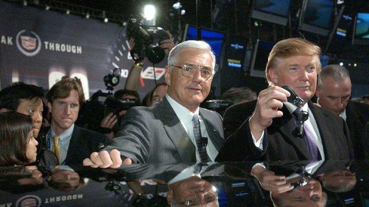 Donald Trump receives DTS keys from Bob Lutz