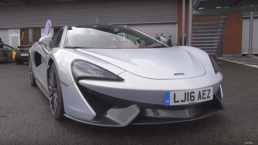 McLaren 570GT protoype filmed at private track day