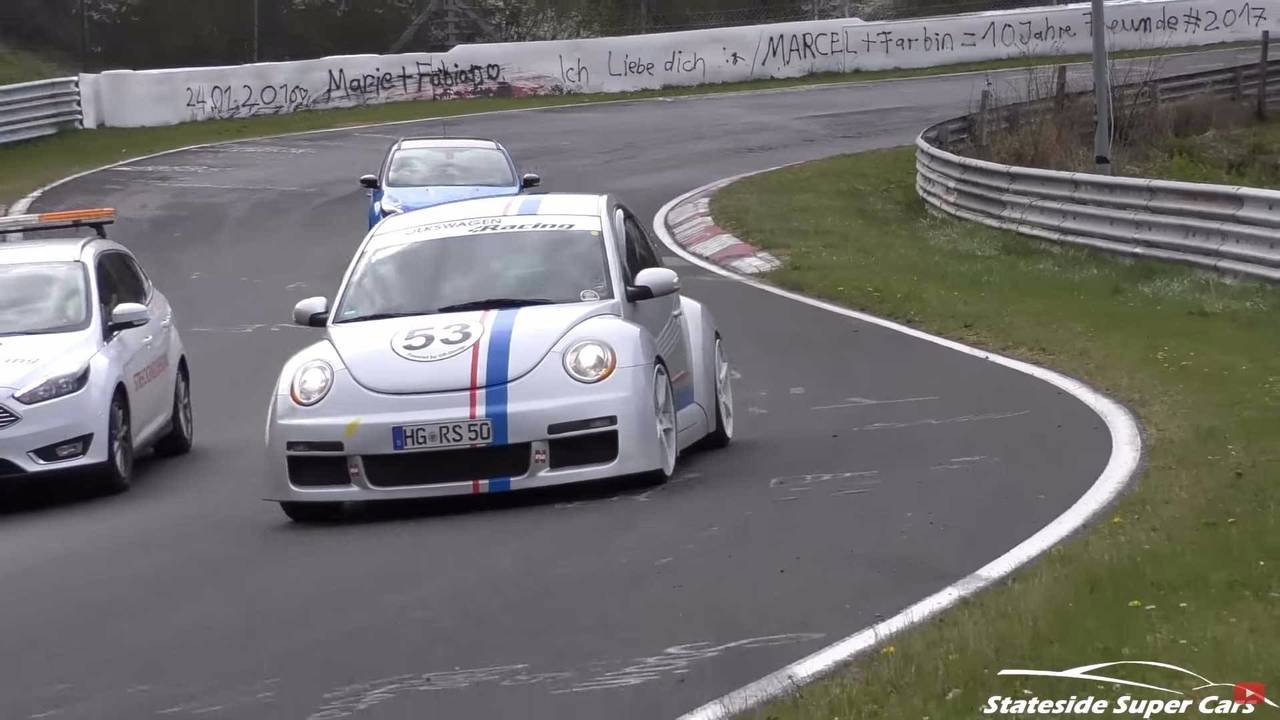 watch this super rare vw beetle rsi tackle the n rburgring. Black Bedroom Furniture Sets. Home Design Ideas