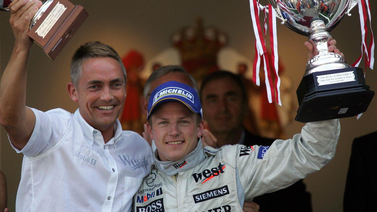 Martin Whitmarsh and Kimi Raikkonen 22.05.2005 Monaco Grand Prix