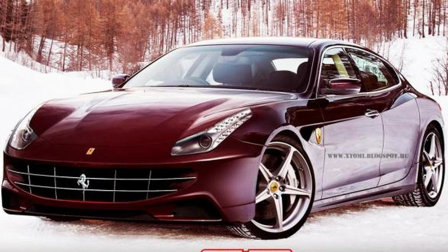 Ferrari sedan rendering looks shockingly good
