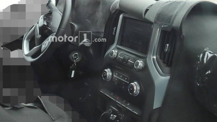 GMC Sierra Interior Spied Largely Uncovered